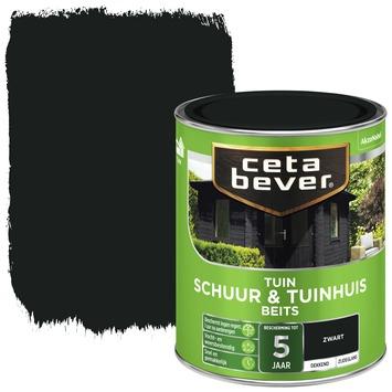 Cetabever schuur & tuinhuisbeits dekkend zwart 750 ml