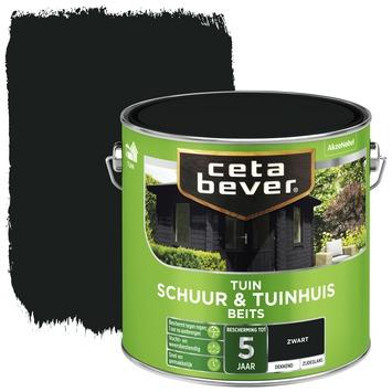 Cetabever schuur & tuinhuisbeits dekkend zwart 2,5 liter