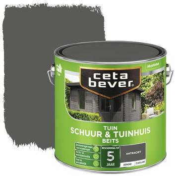 Cetabever schuur & tuinhuisbeits dekkend antraciet 2,5 liter