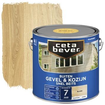 Cetabever gevel & kozijn snel beits transparant blank zijdemat 2,5 liter