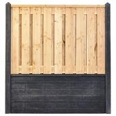 Houtbetonschutting compleet met gratis plaatsing, lengte 11,5 t/m 12 meter