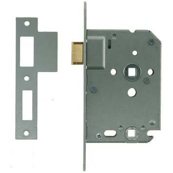 NEMEF 1200 serie insteekslot badkamerslot/wc-slot met gelakte voorplaat Doorn 50mm PC 63mm