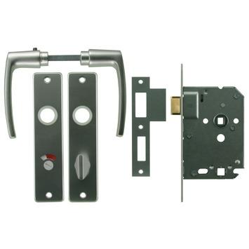 NEMEF 1200 serie slotset badkamerslot/wc-slot inclusief beslag Doorn 50mm PC 63mm