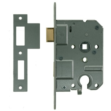 NEMEF insteekcilinderslot binnendeur met wit gelakte voorplaat Doorn 50mm PC 55mm
