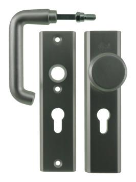 Nemef veiligheidsbeslag 3405 kruk/knop aluminium 55mm