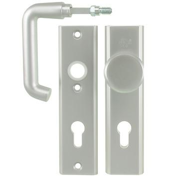 Nemef veiligheidsbeslag 3405 kruk/knop aluminium 72mm