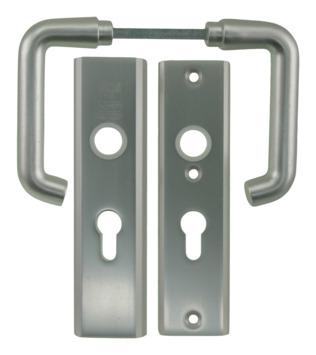 Nemef veiligheidsbeslag 3407 kruk/kruk aluminium 55mm