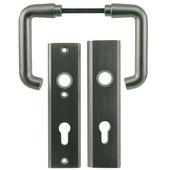 Nemef veiligheidsbeslag 3407 kruk/kruk aluminium 72mm