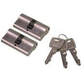 NEMEF veiligheidscilinder NF2 30/30 mm SKG 2-sterren gelijksluitend (2 stuks)