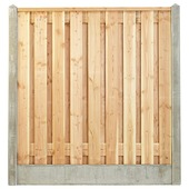 Houtbetonschutting compleet met gratis plaatsing, lengte 4 t/m 4,5 meter
