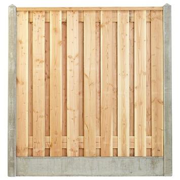 Houtbetonschutting compleet met gratis plaatsing, lengte 23,5 t/m 24 meter