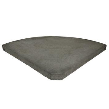 Parasolvoettegel Antraciet Beton 25 kg
