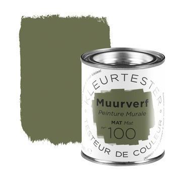 Kleurtester muurverf mat nr. 100 Groene thee