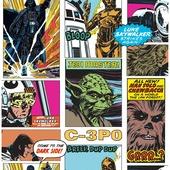 Papierbehang 70-573 star wars pop art collage