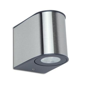 Lutec buitenlamp Gemini RVS 2-lichts klein