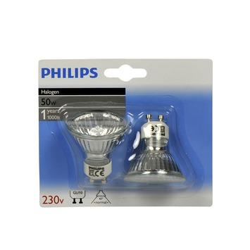 gamma philips reflectorlamp gu10 50w 2800k kopen halogeenspots. Black Bedroom Furniture Sets. Home Design Ideas