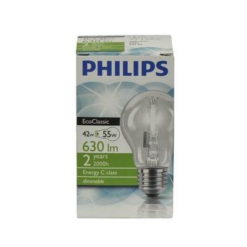 Philips EcoClassic halogeenlamp E27 42W helder