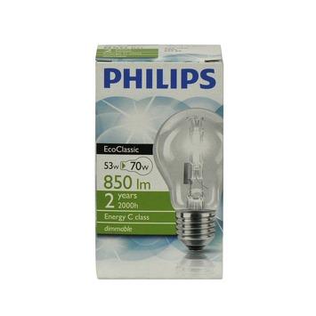 Philips EcoClassic halogeenlamp E27 53W helder