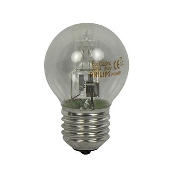 Philips EcoClassic kogellamp halogeen E27 28W warm wit helder