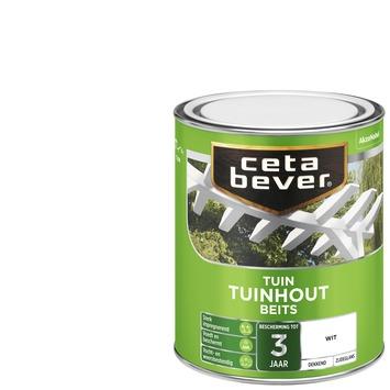 Cetabever tuinhout beits dekkend wit zijdeglans 750 ml