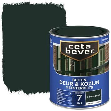 Cetabever deur & kozijn meesterbeits dekkend donkergroen zijdeglans 750 ml