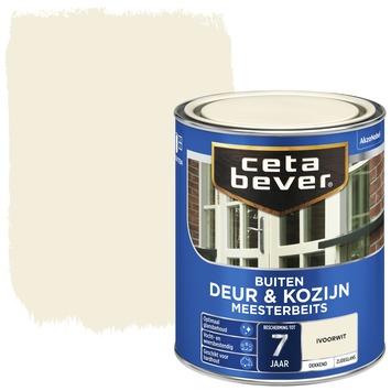 Cetabever deur & kozijn meesterbeits dekkend zijdeglans ivoorwit 750 ml