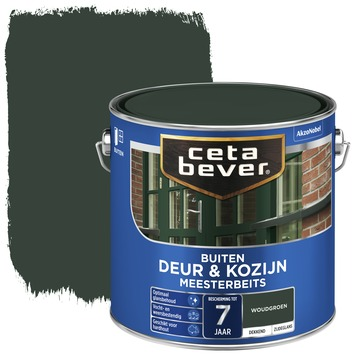 Cetabever deur & kozijn meesterbeits dekkend zijdeglans woudgroen 2,5 liter