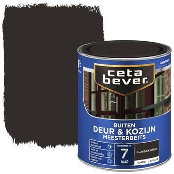 Cetabever deur & kozijn meesterbeits dekkend zijdeglans klassiek bruin 750 ml