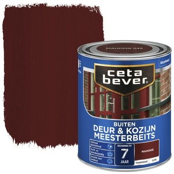 Cetabever deur & kozijn meesterbeits transparant mahonie glans 750 ml