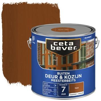 Cetabever deur & kozijn meesterbeits transparant zijdeglans teak 2,5 liter