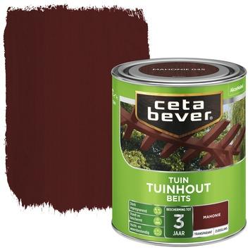 Cetabever tuinhout beits transparant mahonie zijdeglans 750 ml