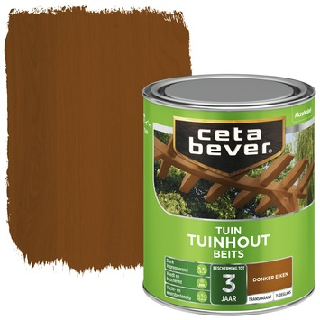 Cetabever tuinhout beits transparant donker eiken zijdeglans 750 ml