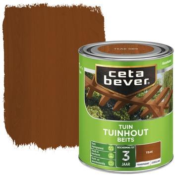 Cetabever tuinhout beits transparant teak zijdeglans 750 ml