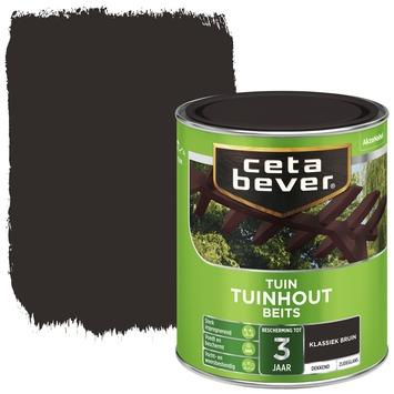 Cetabever tuinhout beits dekkend klassiek bruin zijdeglans 750 ml