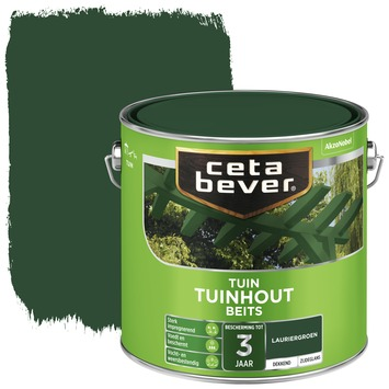 Cetabever tuinhout beits dekkend laurier groen zijdeglans 2,5 liter