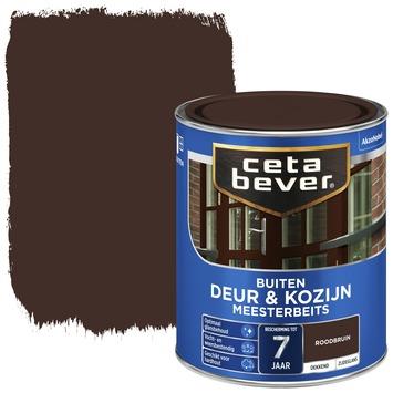 Cetabever deur & kozijn meesterbeits dekkend zijdeglans roodbruin 750 ml