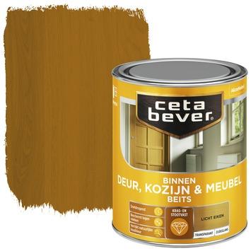 Cetabever deur, kozijn & meubelbeits transparant licht eiken zijdeglans 750 ml