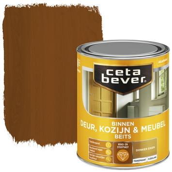 Cetabever deur, kozijn & meubelbeits transparant donker eiken zijdeglans 750 ml