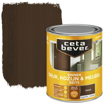 Cetabever deur, kozijn & meubelbeits transparant wenge zijdeglans 750 ml