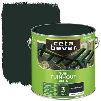 Cetabever tuinhout beits dekkend donkergroen zijdeglans 2,5 liter