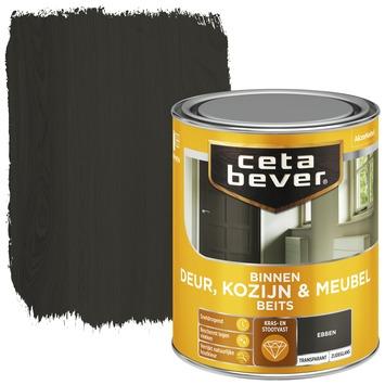 Cetabever deur, kozijn & meubelbeits transparant ebben zijdeglans 750 ml