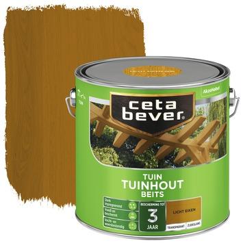 Cetabever tuinhout beits transparant licht eik zijdeglans 2,5 liter