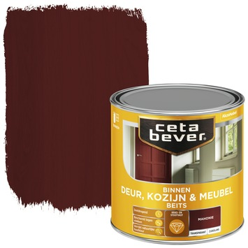 Cetabever deur, kozijn & meubelbeits transparant mahonie zijdeglans 250 ml