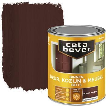 Cetabever deur, kozijn & meubelbeits transparant donker mahonie zijdeglans 750 ml