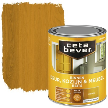 Cetabever deur, kozijn & meubelbeits transparant grenen zijdeglans 750 ml