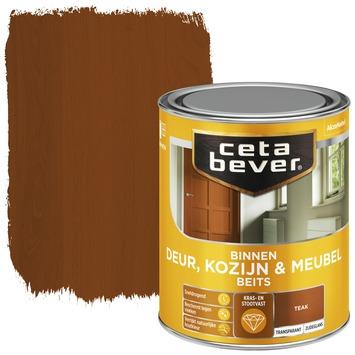 Cetabever deur, kozijn & meubelbeits transparant teak zijdeglans 750 ml