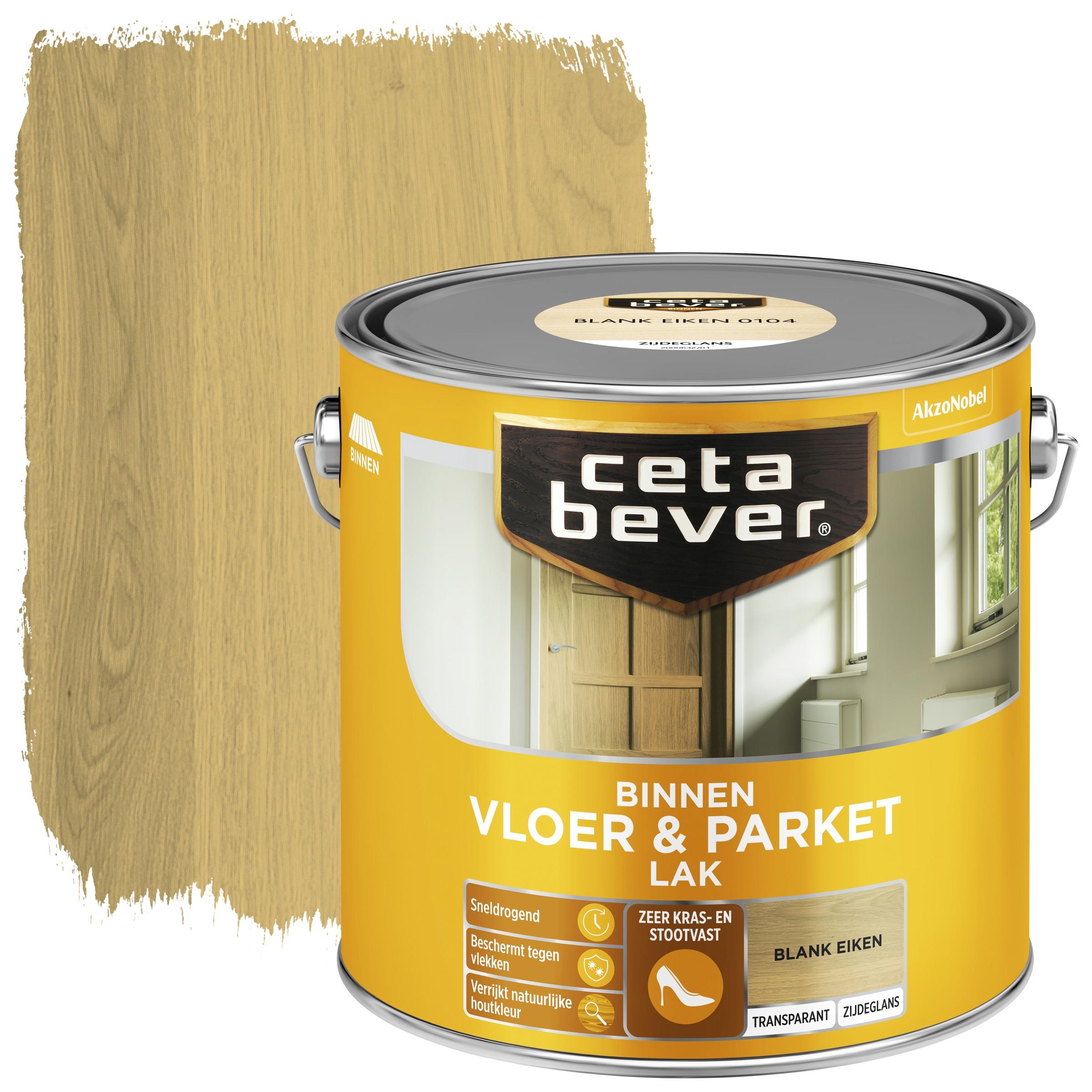 Cetabever vloer- & parketlak transparant blank eiken zijdeglans 2,5 l