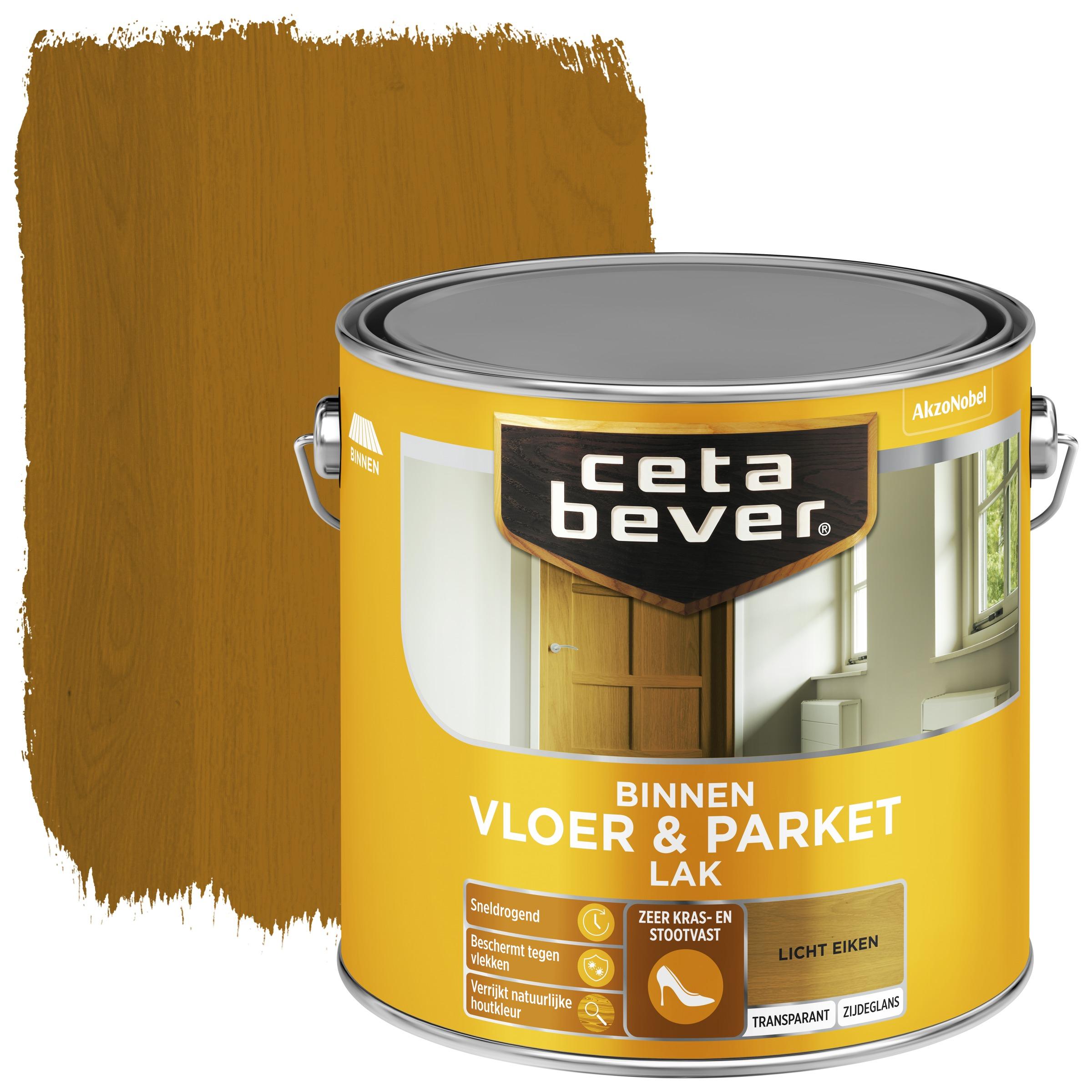 CetaBever vloer & parketlak ac 0106 licht eiken transparant 2,5l
