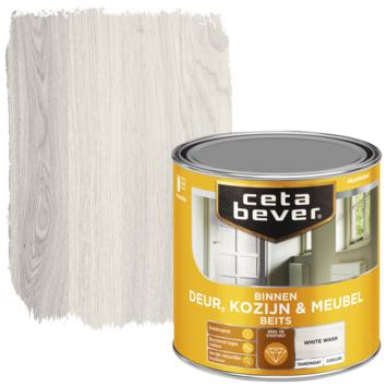 Cetabever deur, kozijn & meubelbeits transparant white wash zijdeglans 250 ml