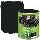 Cetabever tuinhout beits dekkend zwart zijdeglans 750 ml